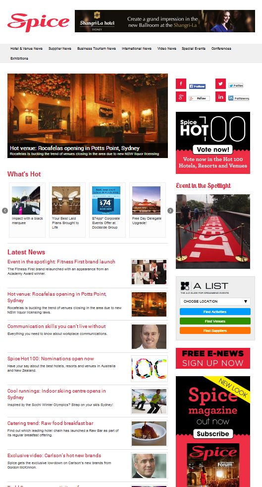 Spice News - Homepage